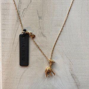 J. Crew Giraffe Charm Necklace